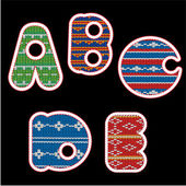 Knitted alphabet - ABCDE