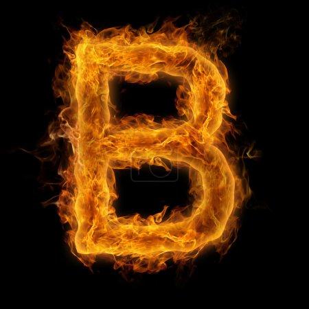 Flaming Letter B
