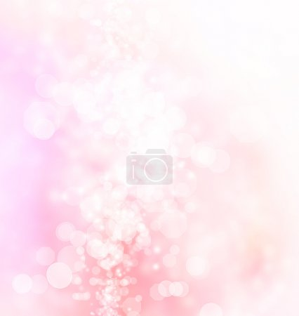 Photo for Pink, peach colored abstract octagon shaped bokeh Lights Background - Royalty Free Image