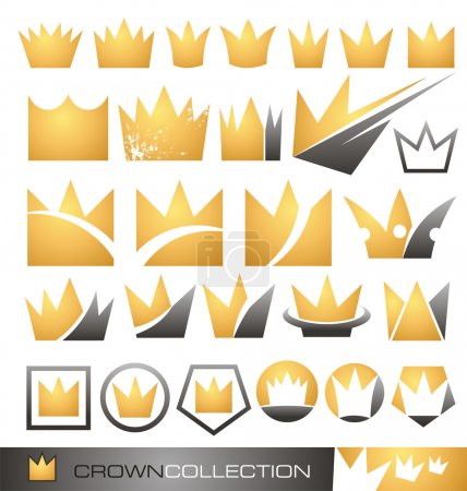 Photo pour Collection d'icônes de couronne de luxe, des logos et des symboles - image libre de droit