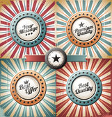 Retro and vintage backgrounds and labels