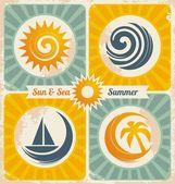 Retro summer holiday poster
