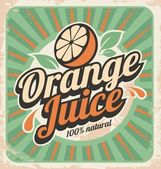 Orange juice retro poster