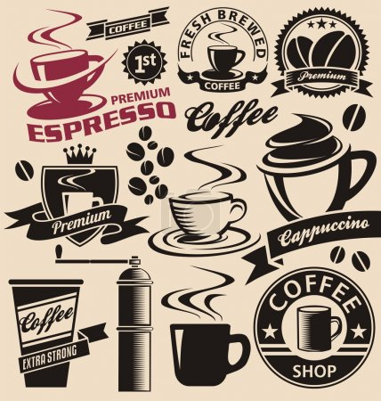 Coffee symbols and logo concepts collection