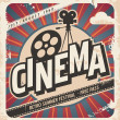 Retro cinema poster. Vector movie poster for summe...