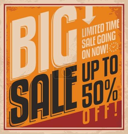 Big sale retro poster template