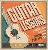 Guitar vintage poster design