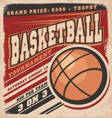 Retro basketball poster design Vintage sport flyer design concept