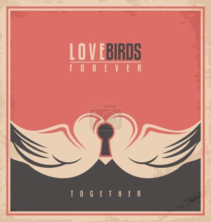 Love birds, unique creative concept