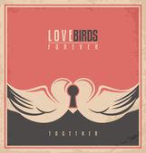 Love birds unique creative concept