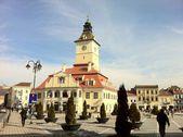 Main square in Brasov, Transylvania, Romania