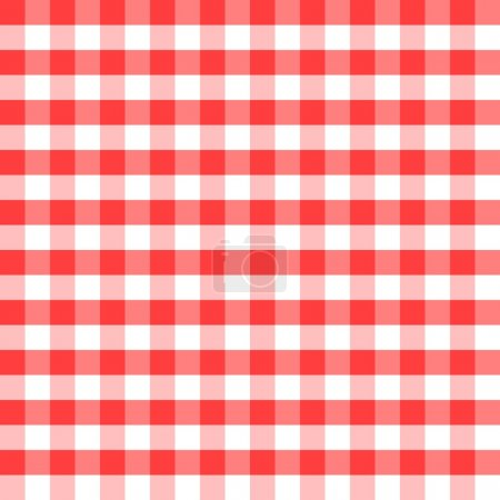 Red and white squares as the background