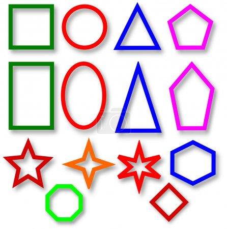 Foto de Varias formas geométricas coloridas para ilustrar - Imagen libre de derechos