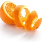 Orange rind, on white background...