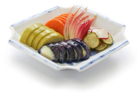 Homemade japanese pickles, tsukemono