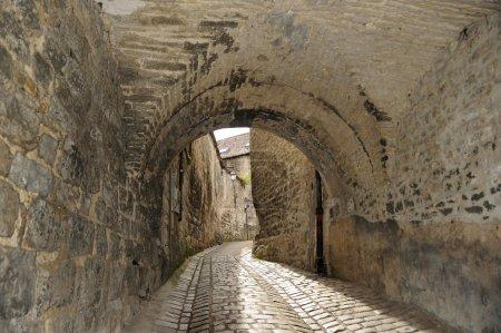 Old street in Besancon, Franche-Comte