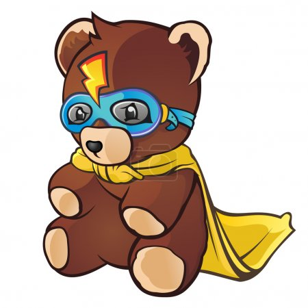 Super Hero Teddy Bear Cartoon