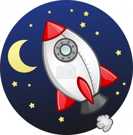 Toy Rocket Ship Cartoon