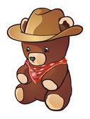 Kovboj medvídek kreslená postavička