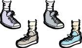 Különböző atlétikai cipő