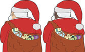 Rear View Santa Claus