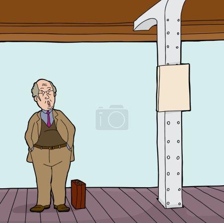 Man on Train Station Platform