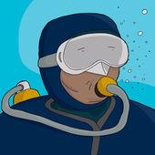 Scuba Diver Close-Up