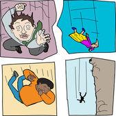 Various People Falling