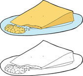 Grated Cheese and Wedge