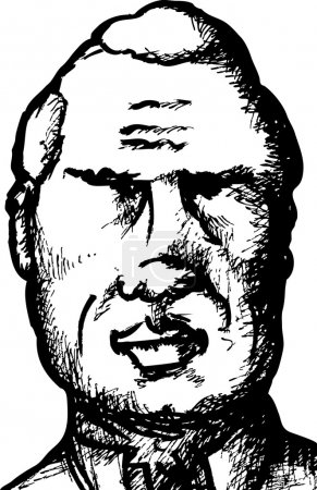 Sketch of Senior Man