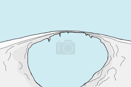 Cartoon Icy Footpath