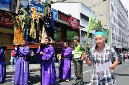 Photo for Palm Sunday at Easter in Center of MEDELLIN .Department of Antioquia. COLOMBI - Royalty Free Image