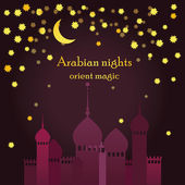 Invitation template for arabian night party or template for muslim holiday card