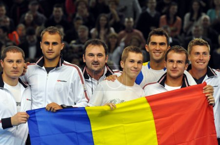 The tennis team of Romania