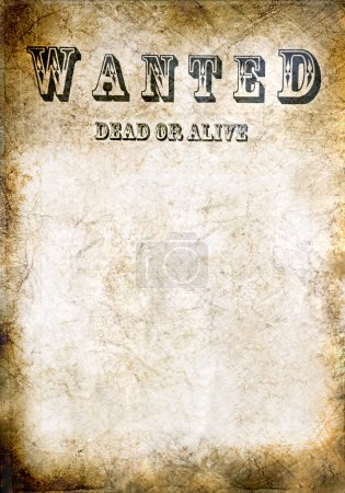Wanted vintage poster, dead or alive