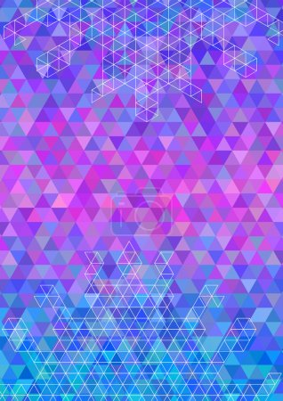 Abstract colorful triangle background