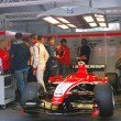 Постер, плакат: Marussia F1 sport car at Moscow City Racing