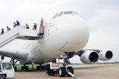 Airbus a380 na mezinárodní letecký salónu maks-2013