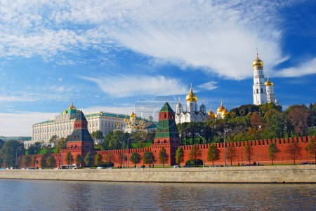 Photo for Moscow Kremlin panorama, UNESCO World Heritage Site. Blue sky background. - Royalty Free Image