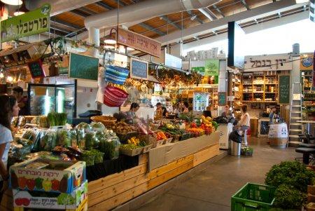 Famous indoors food market Tel Aviv Israel