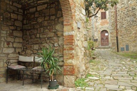 Garden furniture on tuscan terrace