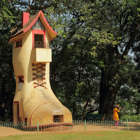 The giant Shoe House for children in Hanging Gardens and the adj