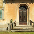 Doorsteps to the old tuscan villa...