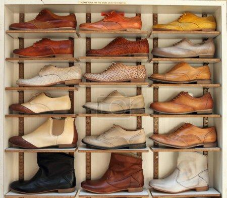 Shelf of shoes