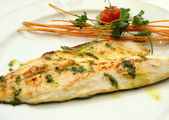Grilled sea bass Fish Fillet plate