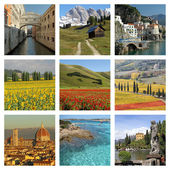 Italian collage of beautiful pictures