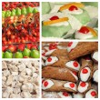 Sicilian sweets collage, Palermo,Sicily, Europe...