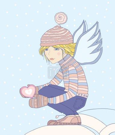 Young girl-angel.
