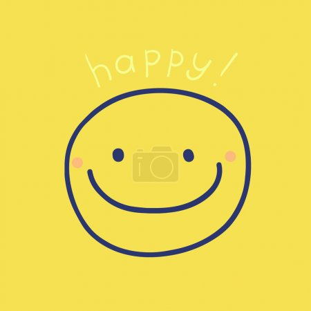 Illustration for Fun happy smiling face. vector image. - Royalty Free Image