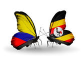 Motýli s příznaky columbia a uganda na křídlech